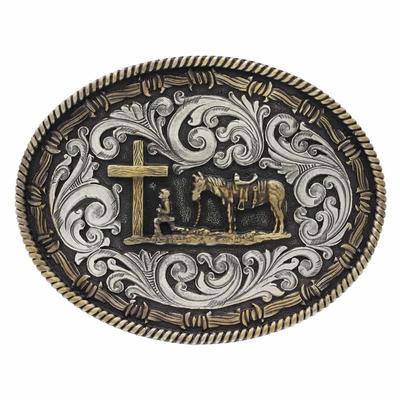 Montana Silversmith's Christ Cowboy Belt Buckle