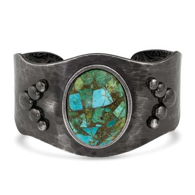 Montana Silversmith's Shadows On The Water Turquoise Cuff Bracelet