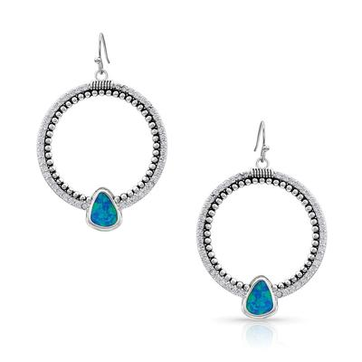 Montana Silversmith's River Of Lights Drop Circle Earrings