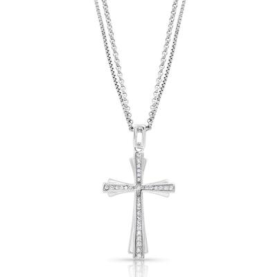 Montana Silversmith's Faith In Starlight Cross Necklace