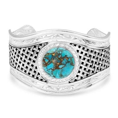 Montana Silversmith's Silver Legacy Turquoise Cuff Bracelet