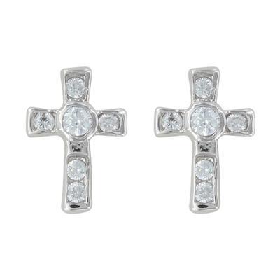 Montana Silversmith's Mark Of Faith Cross Earrings