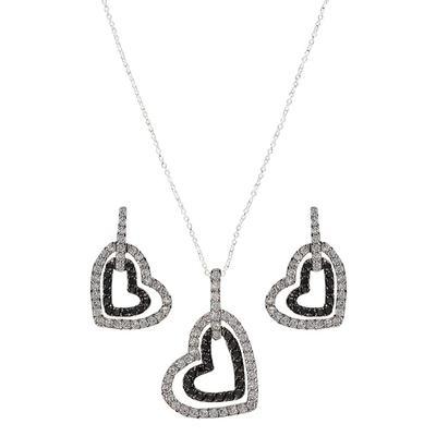 Montana Silversmith's Hearts Deep Reflection Jewelry Set