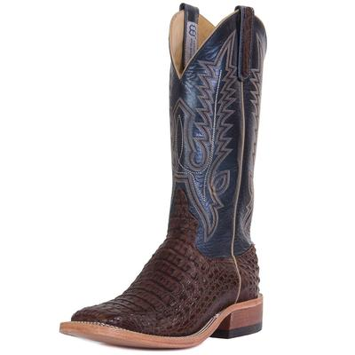 Anderson Bean Men's Regal Blue Lustre Caiman Boots