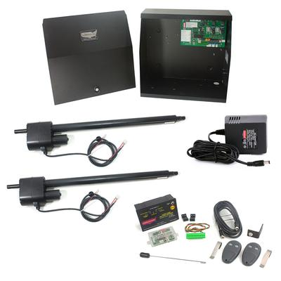 Patriot II AC Charged Dual Swing Gate Operator with Photo Eye, LCR Receiver & 2 Transmitters - USAutomatic