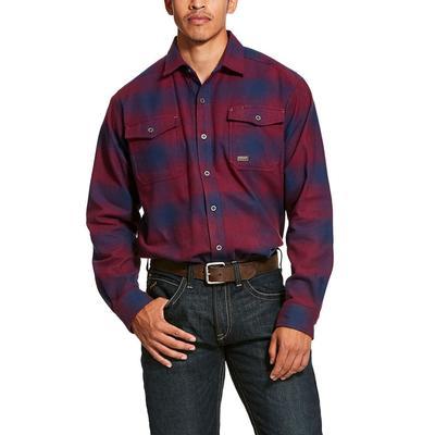 Ariat Men's Rebar Heavyweight Flannel Classic Fit Shirt