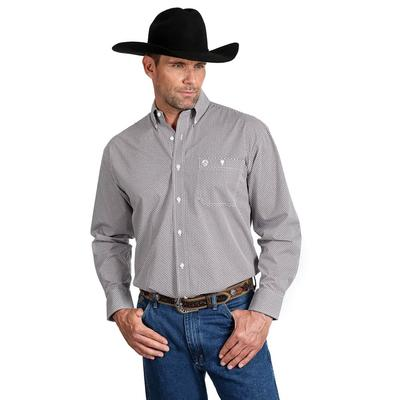 George Strait Men's One Pocket Printed Button Down Shirt