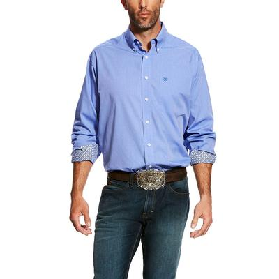 Ariat Men's Wrinkle Free Solid Oxford Shirt