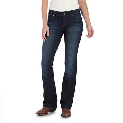 Wrangler Women's Mid Rise Boot Cut Jeans