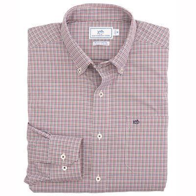 Southern Tide Men's Long Sleeve Inter Coastal Lazeret Gingham Shirt