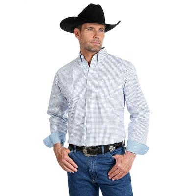 Wrangler Men's Long Sleeve George Strait One Pocket Shirt