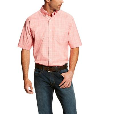 Ariat Men's Short Sleeve Harper Peach Shirt