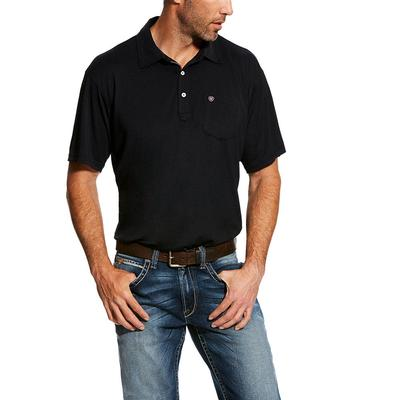 Ariat Men's Short Sleeve Black Freeze Point Polo
