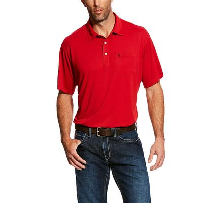 Ariat Men's Short Sleeve True Crimson Freeze Point Polo