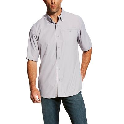 Ariat Men's Short Sleeve Ventek Solid Sleet Shirt