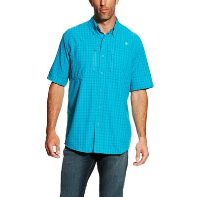 Ariat Men's Short Sleeve Ventek Plaid Bondi Pool Shirt