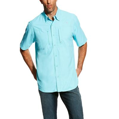 Ariat Men's Short Sleeve Vent Tek Cool Aqua Shirt