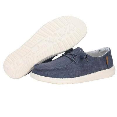 Hey Dude Women's Wendy Chambray Navy & White Shoes
