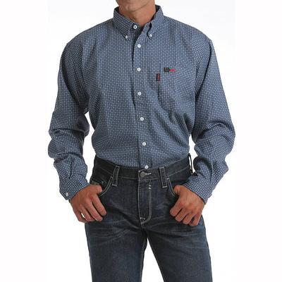 Cinch Men's Long Sleeve Flame Resistant Button Down Shirt