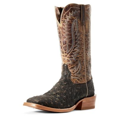 Ariat Men's Mocha Full Quill Ostrich Showman Boots