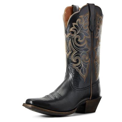 Ariat Women's Limousine Black Round Up Square Toe Boots