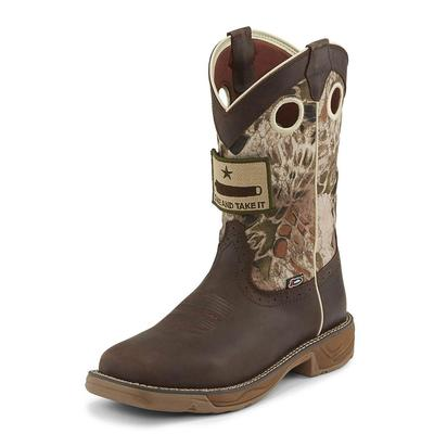Justin Men's Stampede Rush Grizzly Brown Work Boots