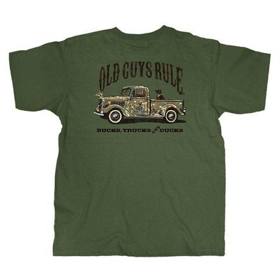 Old Guys Rule Men's Camo Truck T-Shirt