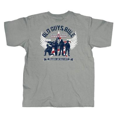 Old Guys Rule Men's Freedom Star T-Shirt