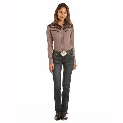 Pahandle Slim Women's Rose Yoke Snap Shirt