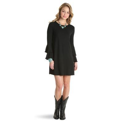 Wrangler Women's Long Sleeve Rib Knit Dress