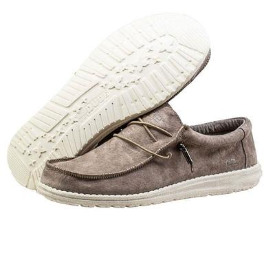Hey Dude Men's Suede Tan Wally Shoes