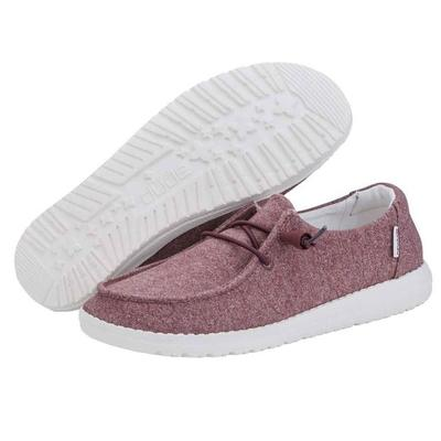 Hey Dude Women's Burgundy Wendy Stretch Shoes