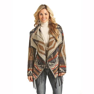 Panhandle Slim Women's Wool Fringe Coat