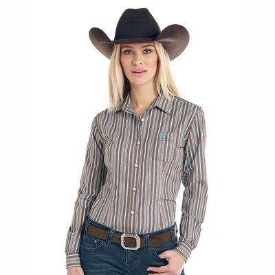 Panhandle Slim Women's Long Sleeve Stripe Snap Shirt