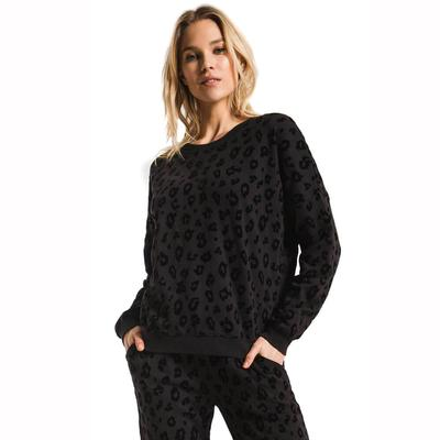Z Supply Women's Animal Flocked Pullover