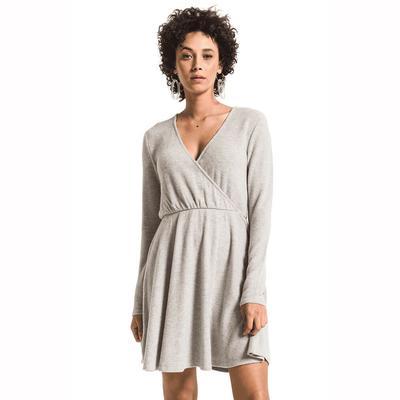 Z Supply Women's Long Sleeve Soft Spun Surplice Dress
