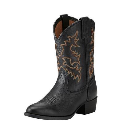 Ariat Kids Heritage Western Black Deertan Boots