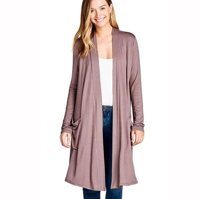 Active Basic Women's Long Sleeve Open Cardigan
