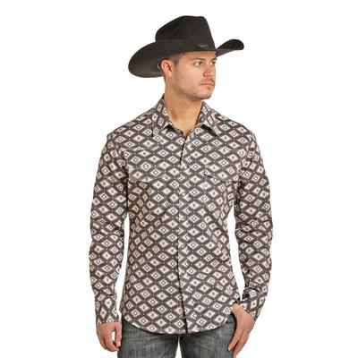 Rock and Roll Denim Men's FR Aztec Print Snap Shirt