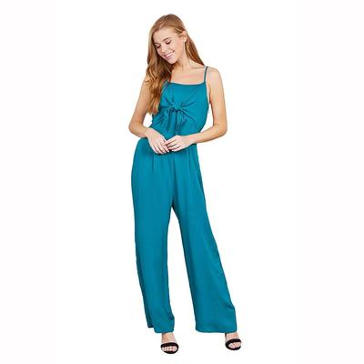 Active Basic Women's Front Tie Cami Jumpsuit TEL