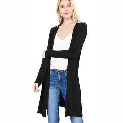 Active Basic Women's Long Sleeve Side Slit Cardigan