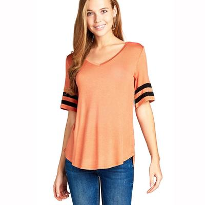 Active Basic Women's Short Sleeve V-Neck Top