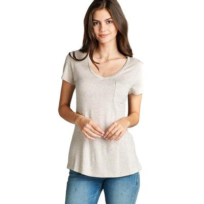 Active Basic Women's V- Neck Jersey Top