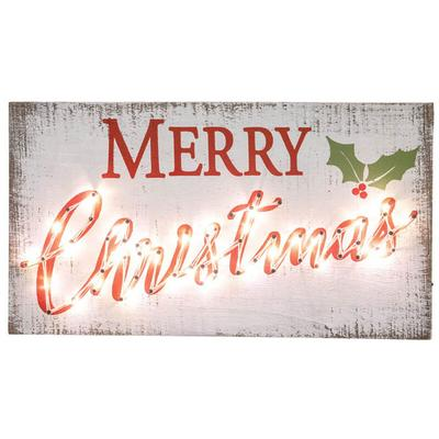 Merry Christmas Light-Up Hanging Sign