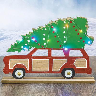 Christmas Wagon Light Up Table Decoration