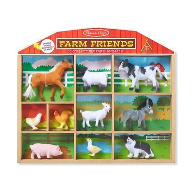 10 Piece Collectible Farm Animal Friends
