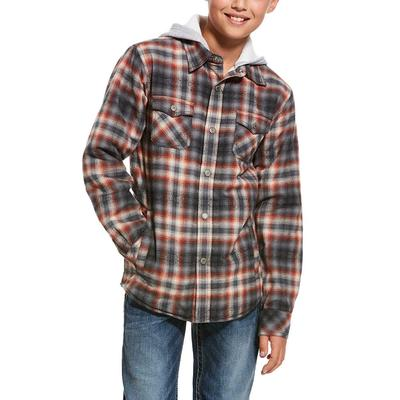 Ariat Boy's Kemper Flannel Hoodie Jacket