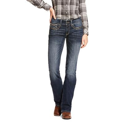 Ariat Women's REAL Mid Rise Boot Cut Jeans