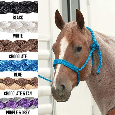Classic Equine Braided Rope Halter with Lead CHOC