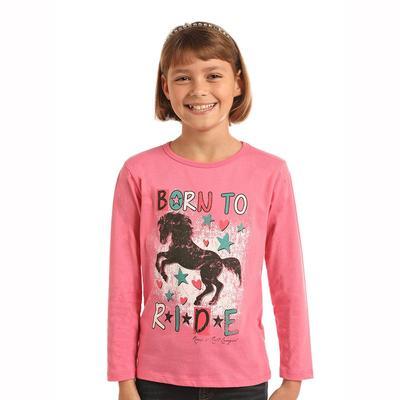 Panhandle Slim Girl's Born To Ride Shirt